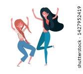 dancing women in white... | Shutterstock .eps vector #1427952419