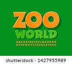 vector bright logo zoo world... | Shutterstock .eps vector #1427955989
