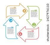 vector abstract 3d paper... | Shutterstock .eps vector #1427976110