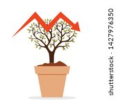 small plant in pot shaped like... | Shutterstock .eps vector #1427976350