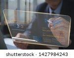business analysis  modern... | Shutterstock . vector #1427984243