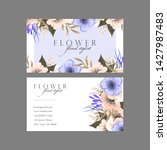 floral style business card... | Shutterstock .eps vector #1427987483