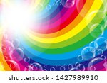 rainbow lines and soap bubbles  ...