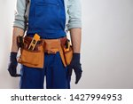 construction worker with tool... | Shutterstock . vector #1427994953