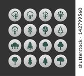 plant symbols. tree icon set. | Shutterstock .eps vector #142799560