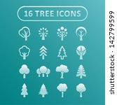 trees. collection of design... | Shutterstock .eps vector #142799599
