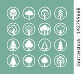 tree icons | Shutterstock .eps vector #142799668