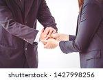 business people coordinate... | Shutterstock . vector #1427998256