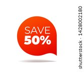 red vector banner speech bubble ... | Shutterstock .eps vector #1428002180