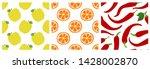 apple  orange slice  pepper.... | Shutterstock .eps vector #1428002870