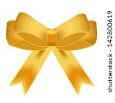 vector illustration of gold bow | Shutterstock .eps vector #142800619