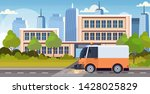 street sweeper truck machine...   Shutterstock .eps vector #1428025829