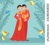 chinesse wedding  image with... | Shutterstock .eps vector #1428030830