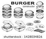 set of burgers. vector burger...   Shutterstock .eps vector #1428034826