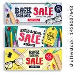 back to school sale vector web... | Shutterstock .eps vector #1428037643