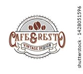 logo for coffee shops or coffee ... | Shutterstock .eps vector #1428051596