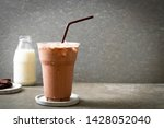 iced chocolate milkshake drink... | Shutterstock . vector #1428052040