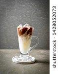 iced chocolate milkshake drink... | Shutterstock . vector #1428052073