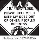 oh lord please help me   retro... | Shutterstock .eps vector #1428054296