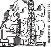 oil rigs   retro ad art... | Shutterstock .eps vector #1428058466