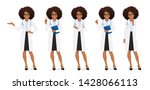 female doctor set in different... | Shutterstock .eps vector #1428066113