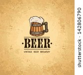 beer label on old paper texture.... | Shutterstock .eps vector #142806790