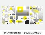 universal trend posters set... | Shutterstock .eps vector #1428069593