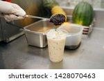 bubble milk tea   hand pouring... | Shutterstock . vector #1428070463