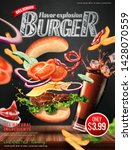 delicious hamburger ads with... | Shutterstock .eps vector #1428070559