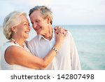 senior couple getting married... | Shutterstock . vector #142807498