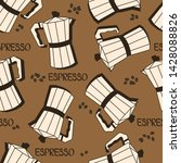 coffee equipment and coffee... | Shutterstock .eps vector #1428088826