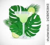 vector illustration of glass of ... | Shutterstock .eps vector #1428092843