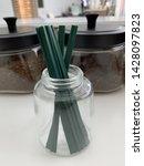reusable pastic straw tube for... | Shutterstock . vector #1428097823