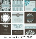 set of invitation cards and... | Shutterstock .eps vector #142810060