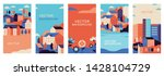 vector set of social media... | Shutterstock .eps vector #1428104729