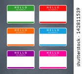 empty badge name tag hello my... | Shutterstock .eps vector #142811539
