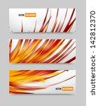 vector flower set banner .... | Shutterstock .eps vector #142812370