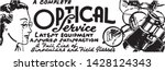 optical service   retro ad art... | Shutterstock .eps vector #1428124343