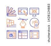 simple set of graphic design...