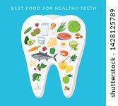 best food for helthy teeth...   Shutterstock .eps vector #1428125789