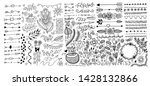 set of hand drawing page... | Shutterstock . vector #1428132866