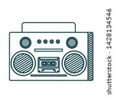 old music radio player icon | Shutterstock .eps vector #1428134546