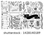 set of hand drawing page... | Shutterstock . vector #1428140189
