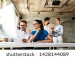 group of business professionals ... | Shutterstock . vector #1428144089