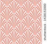 seamless living coral and white ... | Shutterstock .eps vector #1428152000