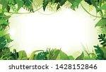 jungle tropical landscape wide... | Shutterstock .eps vector #1428152846