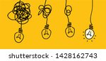 several hanging lamps lamp idea ... | Shutterstock .eps vector #1428162743