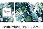 tropical jungle pattern ... | Shutterstock .eps vector #1428179093