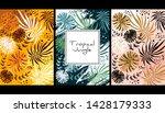 tropical jungle pattern ... | Shutterstock .eps vector #1428179333