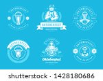 oktoberfest badges and labels... | Shutterstock .eps vector #1428180686
